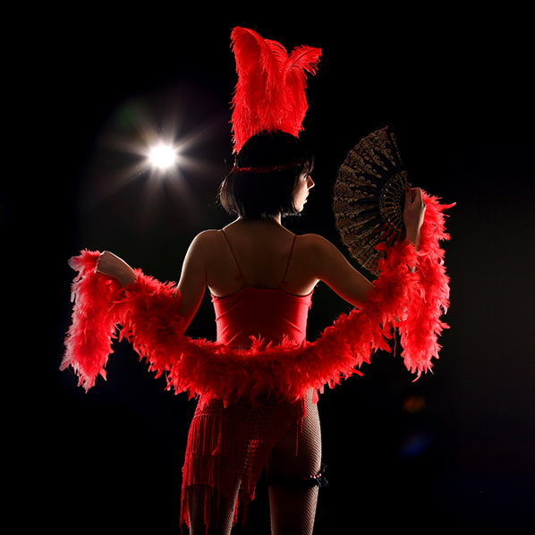 Burlesque Dancer on Stage Silhouette
