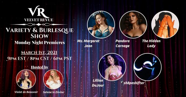 March 1st, 2021 Variety & Burlesque Show Poster