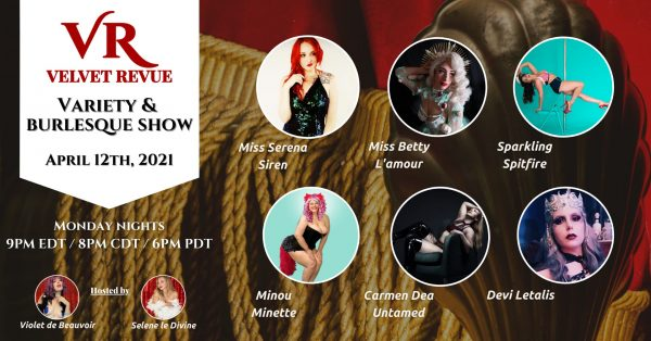 April 12th Variety & Burlesque Show