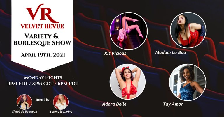 April 19th Variety & Burlesque Show