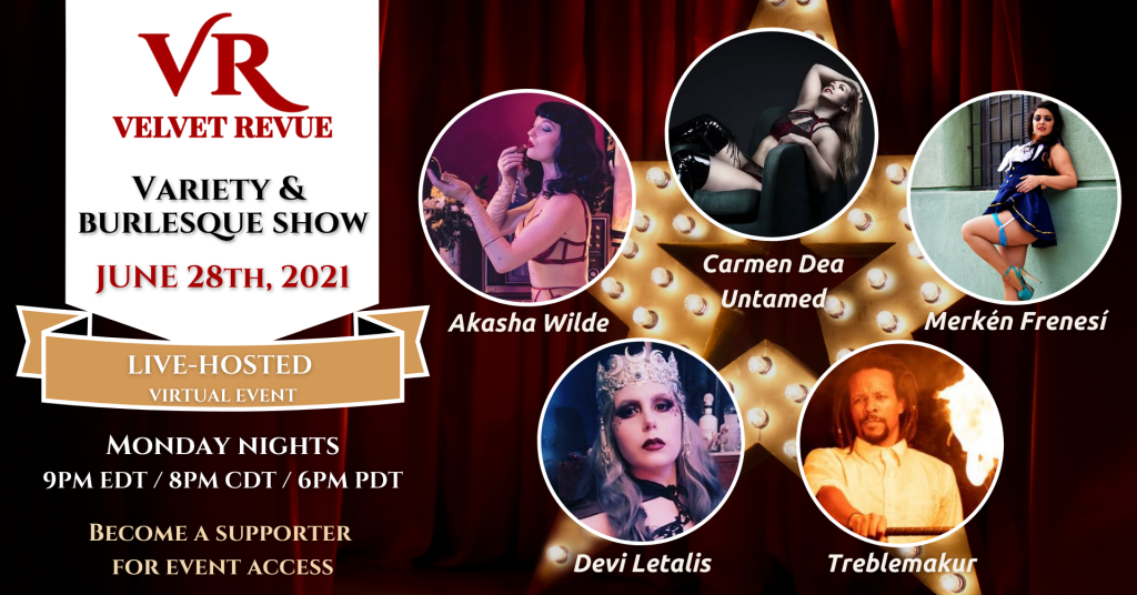 June 28th Variety & Burlesque Show