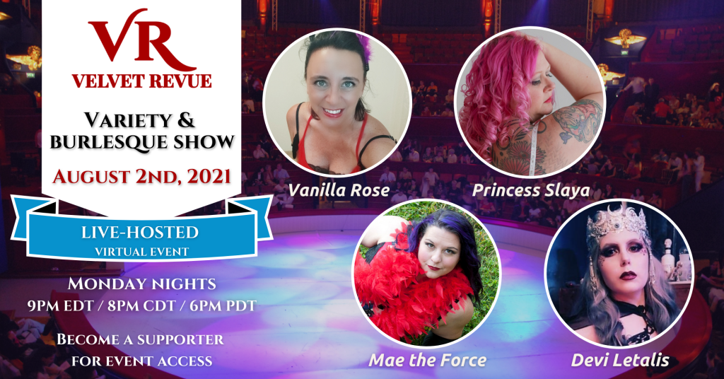 August 2nd, 2021 Variety & Burlesque Show